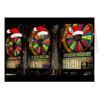 Ranuras del navidad de Las Vegas Tarjeta De Felicitación