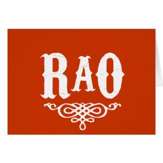 Rao Greeting Card