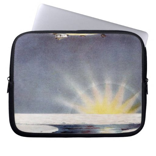 Raold Amundsen's airship Norge over North Pole Laptop Computer Sleeves