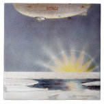 Raold Amundsen's airship Norge over North Pole Large Square Tile