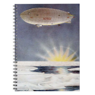Raold Amundsen's airship Norge over North Pole Notebook