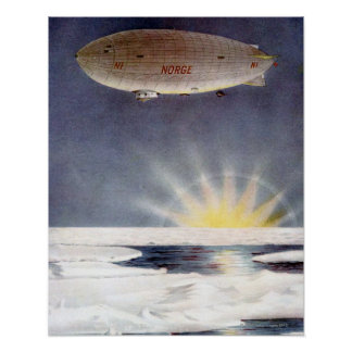 Raold Amundsen's airship Norge over North Pole Poster