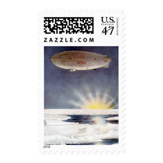 Raold Amundsen's airship Norge over North Pole Stamp