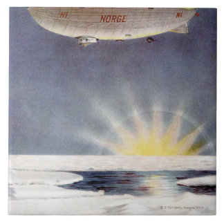 Raold Amundsen's airship Norge over North Pole Tile