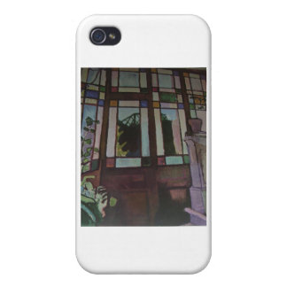 "Raoul Dufy ""Stained Glass Door"" Cases For iPhone 4"
