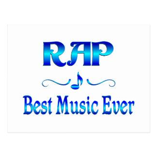 Rap Best Music Postcard