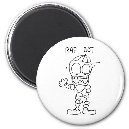 Rap Bot Fridge Magnets