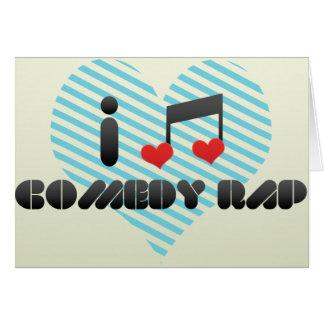 Rap de la comedia tarjeta de felicitación