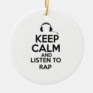 Rap design ceramic ornament