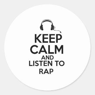 Rap design classic round sticker