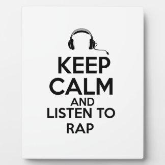 Rap design photo plaques
