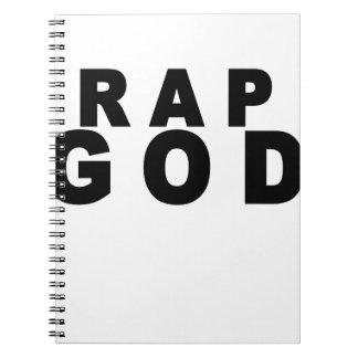 Rap God Shirt M.png Spiral Notebooks