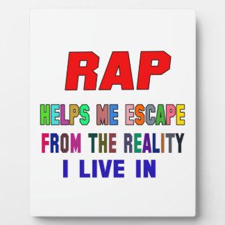 Rap Helps Me Photo Plaque