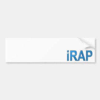 RAP iRAP Rapper Rap music MC emcee girls guys Bumper Sticker