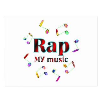 Rap Music Postcard