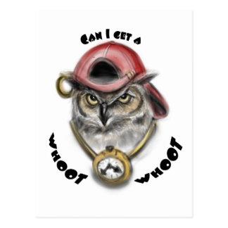 Rap Owl Post Card