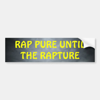 Rap Pure Until the Rapture Christian Hip Hop Bumper Sticker