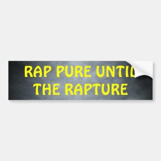 Rap puro hasta el cristiano Hip Hop del éxtasis Etiqueta De Parachoque
