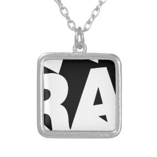 Rap Silver Plated Necklace