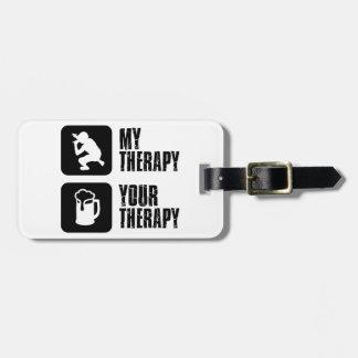 Rap  therapy designs bag tag