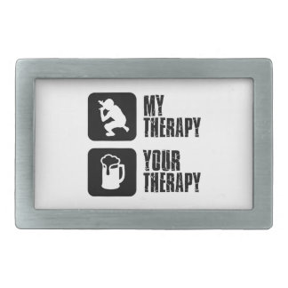 Rap  therapy designs rectangular belt buckle
