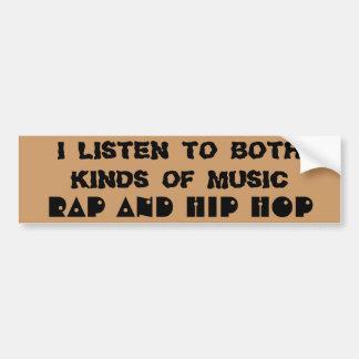 Rap y música de Hip Hop Pegatina Para Auto