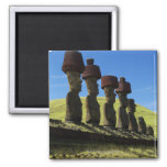 Rapa Nui artifacts, Easter Island 2 Inch Square Magnet