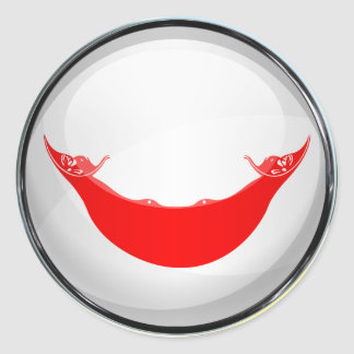 Rapa Nui Flag Glass Ball Classic Round Sticker