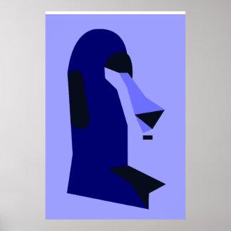 Rapa-Nui - Moai Poster