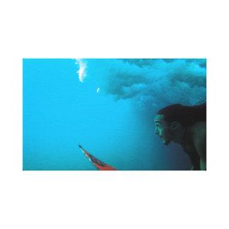 Rapa Nui Surfer Canvas Print
