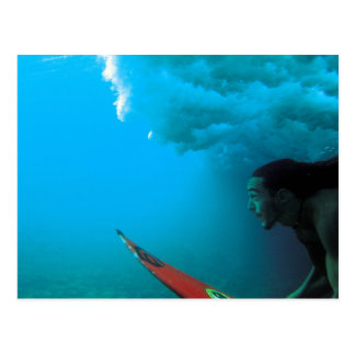 Rapa Nui Surfer Postcard