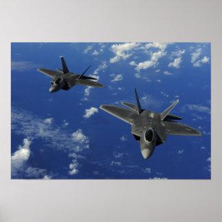 Rapaces de la fuerza aérea de los E.E.U.U.F-22 en Póster