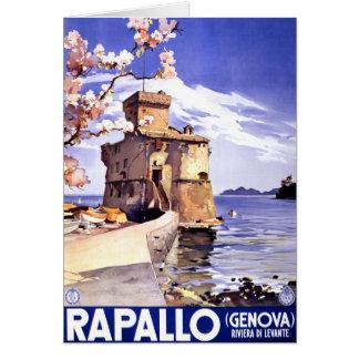 Rapallo Genova Italy Vintage Travel Poster Card