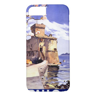 Rapallo Genova Italy Vintage Travel Poster iPhone 8/7 Case