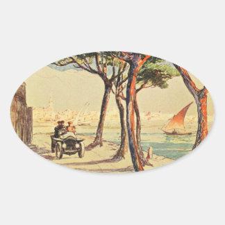 Rapallo, Italy - Vintage Italian Art Oval Sticker