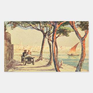 Rapallo, Italy - Vintage Italian Art Rectangular Sticker