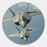 Rapaz de F-22A Pegatina Redonda