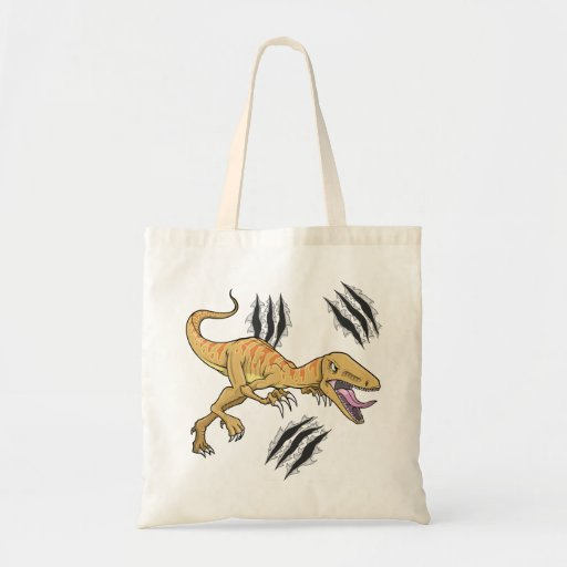 Rapaz del dinosaurio que rasga el bolso de la garr bolsas