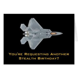 Rapaz F-22 Tarjeta De Felicitación