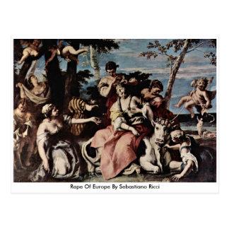 Rape Of Europe By Sebastiano Ricci Postcards