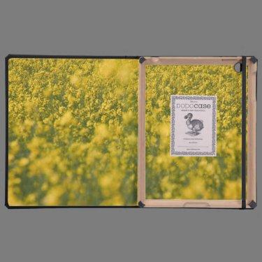 Rapeseed field iPad cases