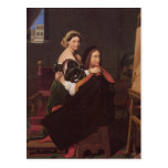 Raphael and the Fornarina fine art Post Cards