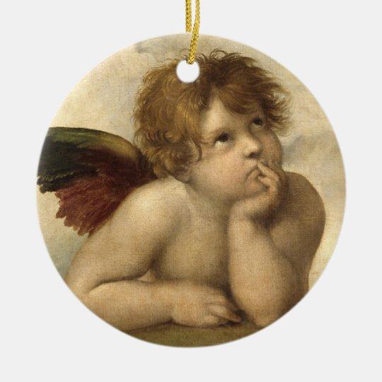 Raphael Angel 1 Ceramic Ornament