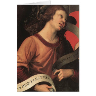 Raphael- Angel, from the polyptych of St. Nicolas Greeting Card