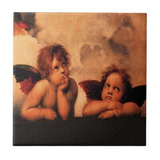 Raphael Angelic Cherubs Ceramic Tile