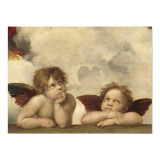 "Raphael Angels 6.5"" X 8.75"" Invitation Card"