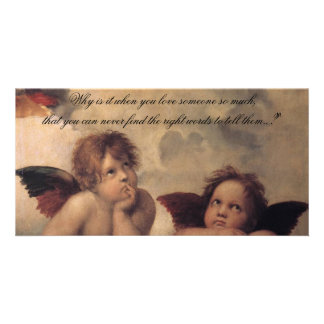Raphael Angels Photo Card Bookmark