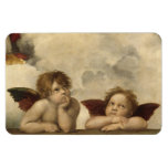 Raphael Angels Rectangle Magnets
