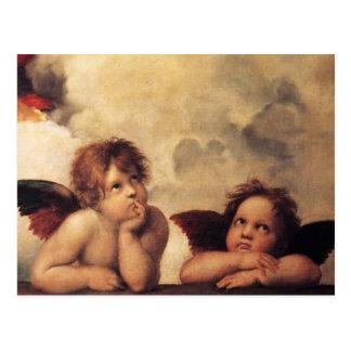 Raphael Art Work Painting Post Card