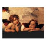 Raphael Cherubs Sistine Madonna 2 Angels Post Cards